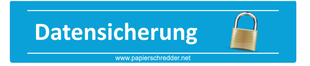 Datensicherung - Papierschredder Slider