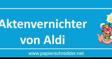 Aktenvernichter von Aldi